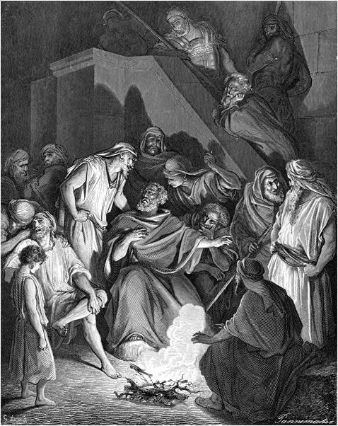 예수님을 세 번 부인한 베드로 (귀스타브 도레, Gustave Dore, 1866년)