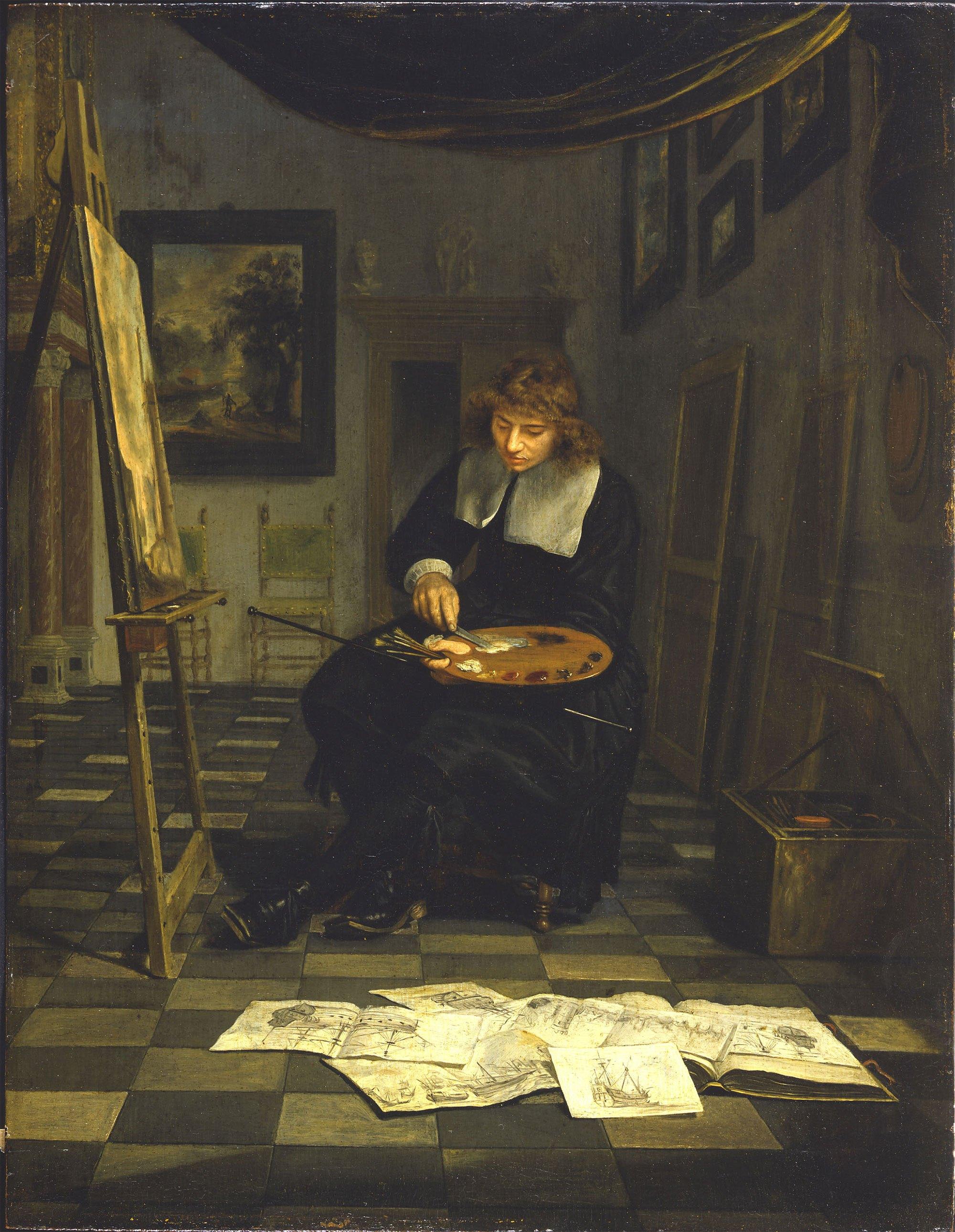 File:Portrait of an Artist in His Studio by Michiel van Musscher.jpg