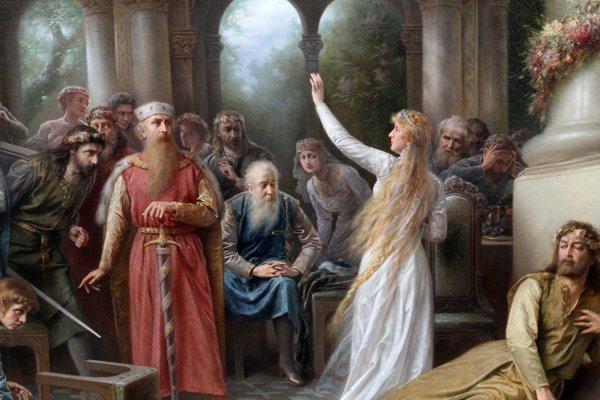 File:Raimund von Wichera - Guinevere and the Court at Camelot.jpg