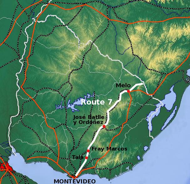 Ruta 7 (Uruguay) - Wikipedia