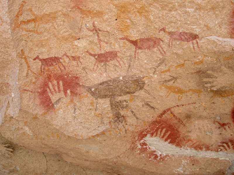 Hand Cave Paintings Argentina