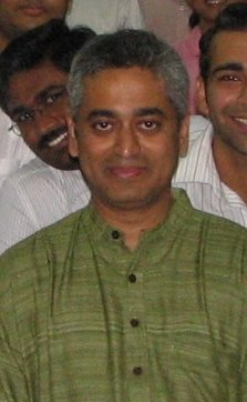 Rajdeep Sardesai at IIM Kozhikode in March 2008