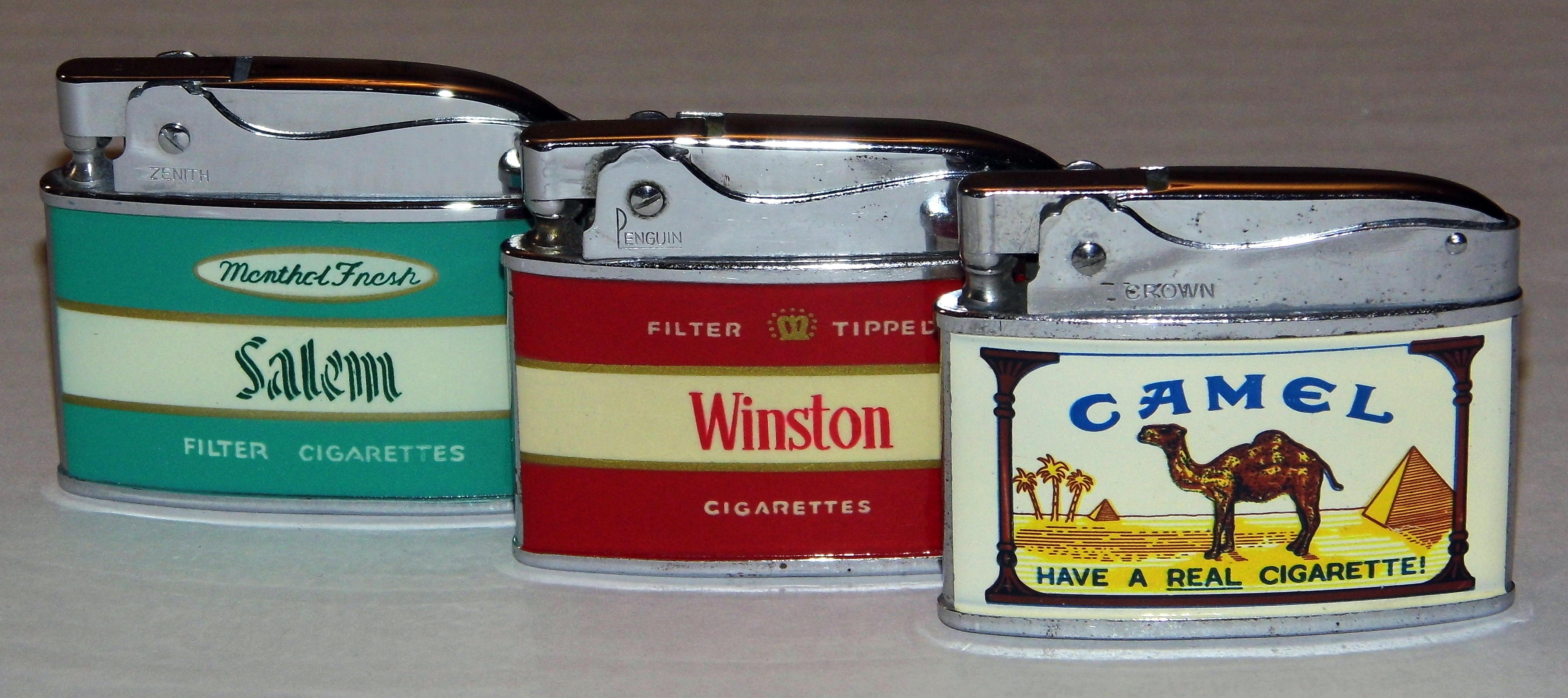 File Set Of 3 Vintage Cigarette