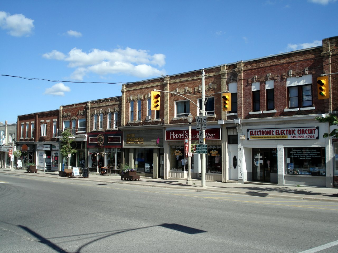 Shelburne's Town Centre, at the intersection of Highway 89 and Highway 10