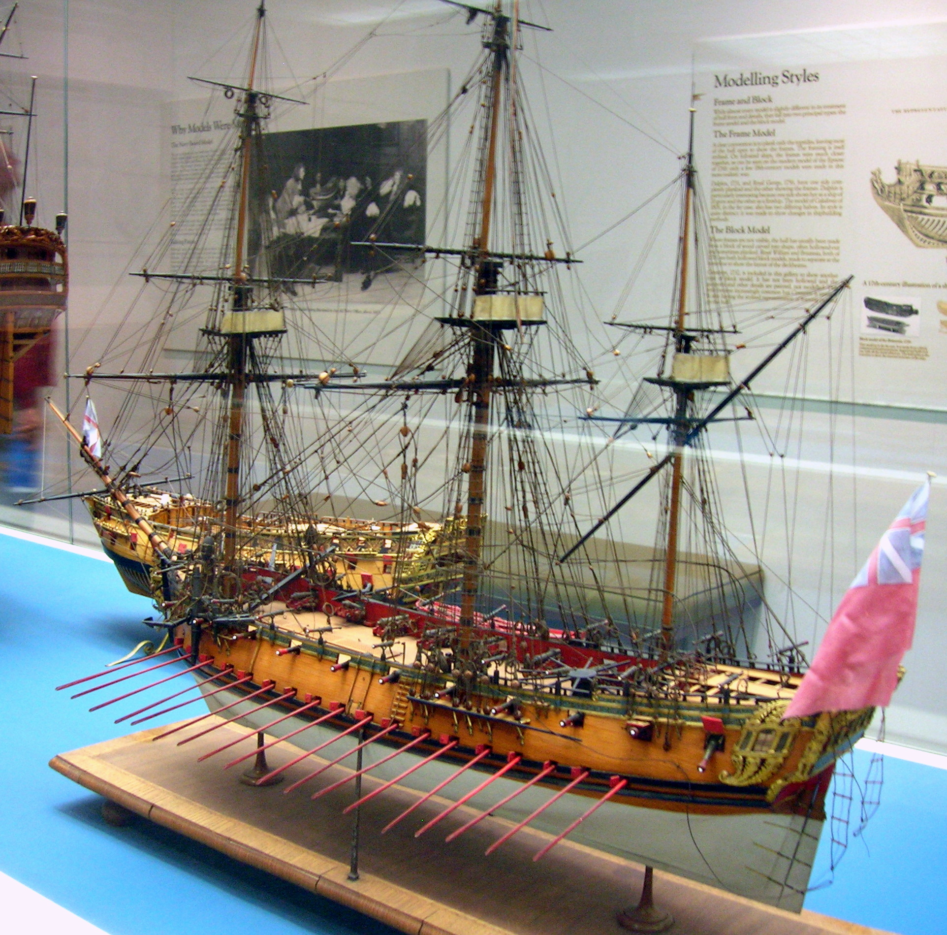 File sixth rate ship model g wikimedia commons