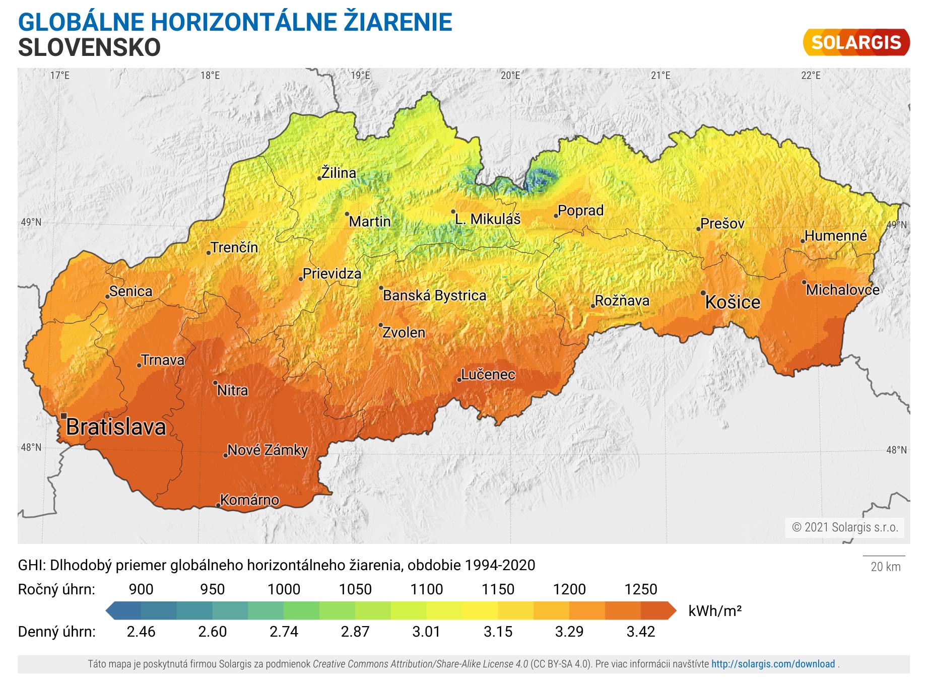 Mapa slnečného žiarenia – Slovenská Republika 60b6a47f1bc