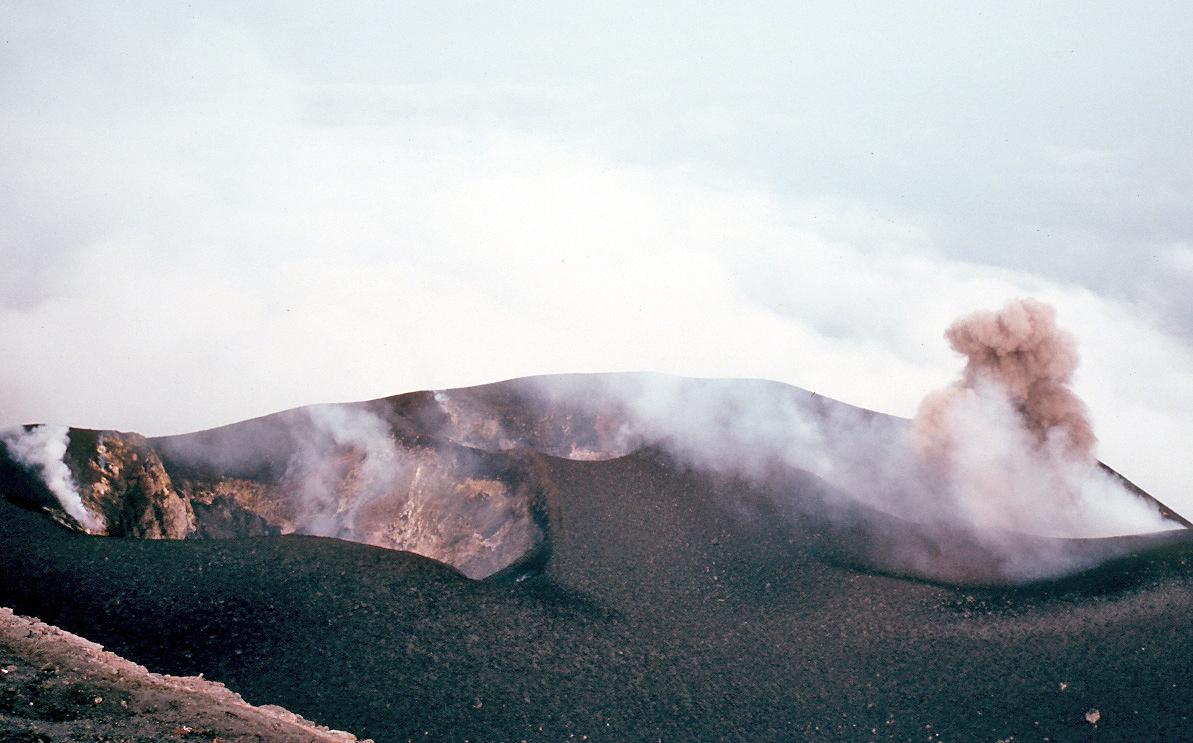 La zona del vulcano