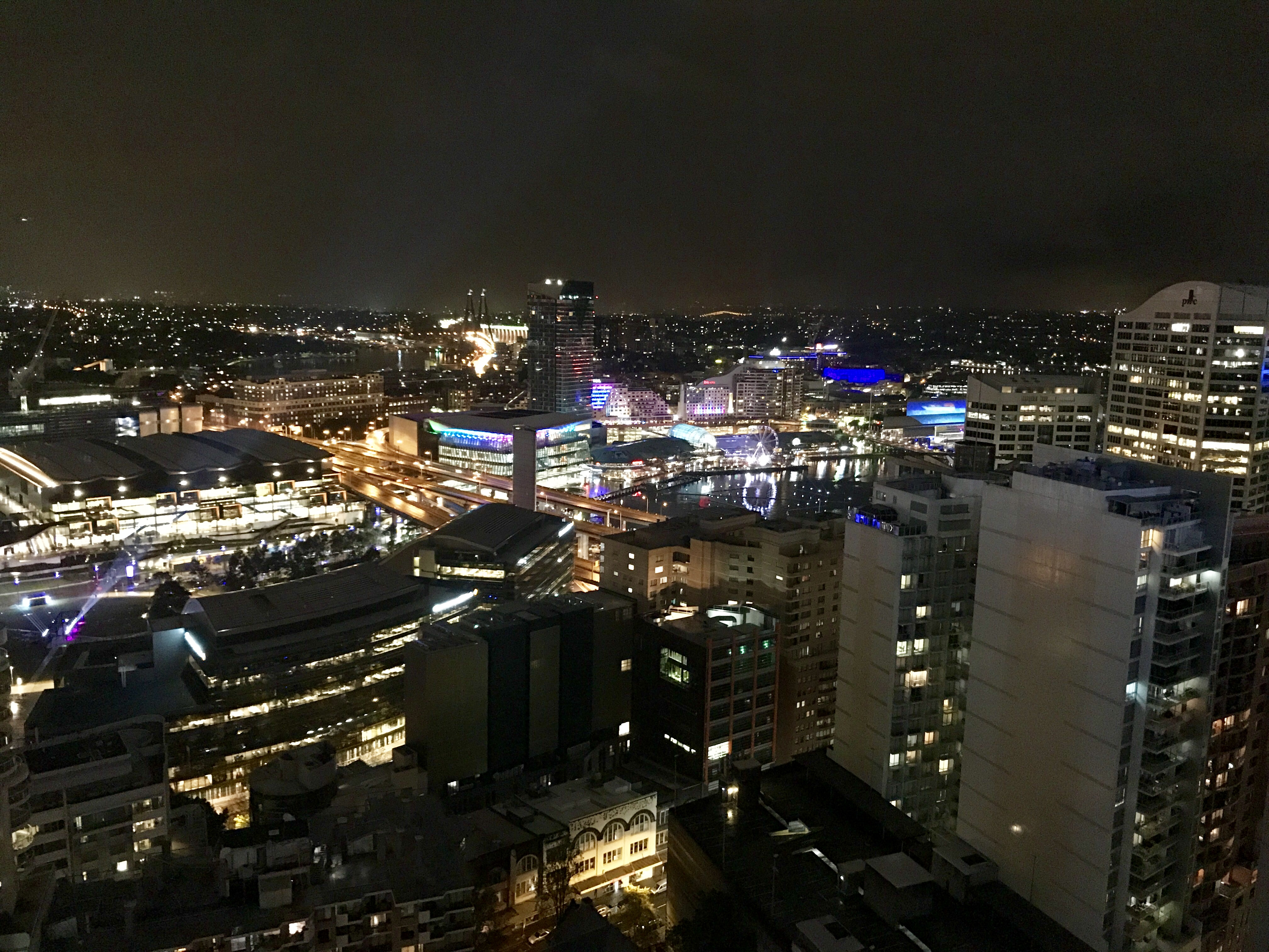File Sydney Darling Harbour At Night Seen From Meriton Serviced Apartments Kent Street 02 Jpg