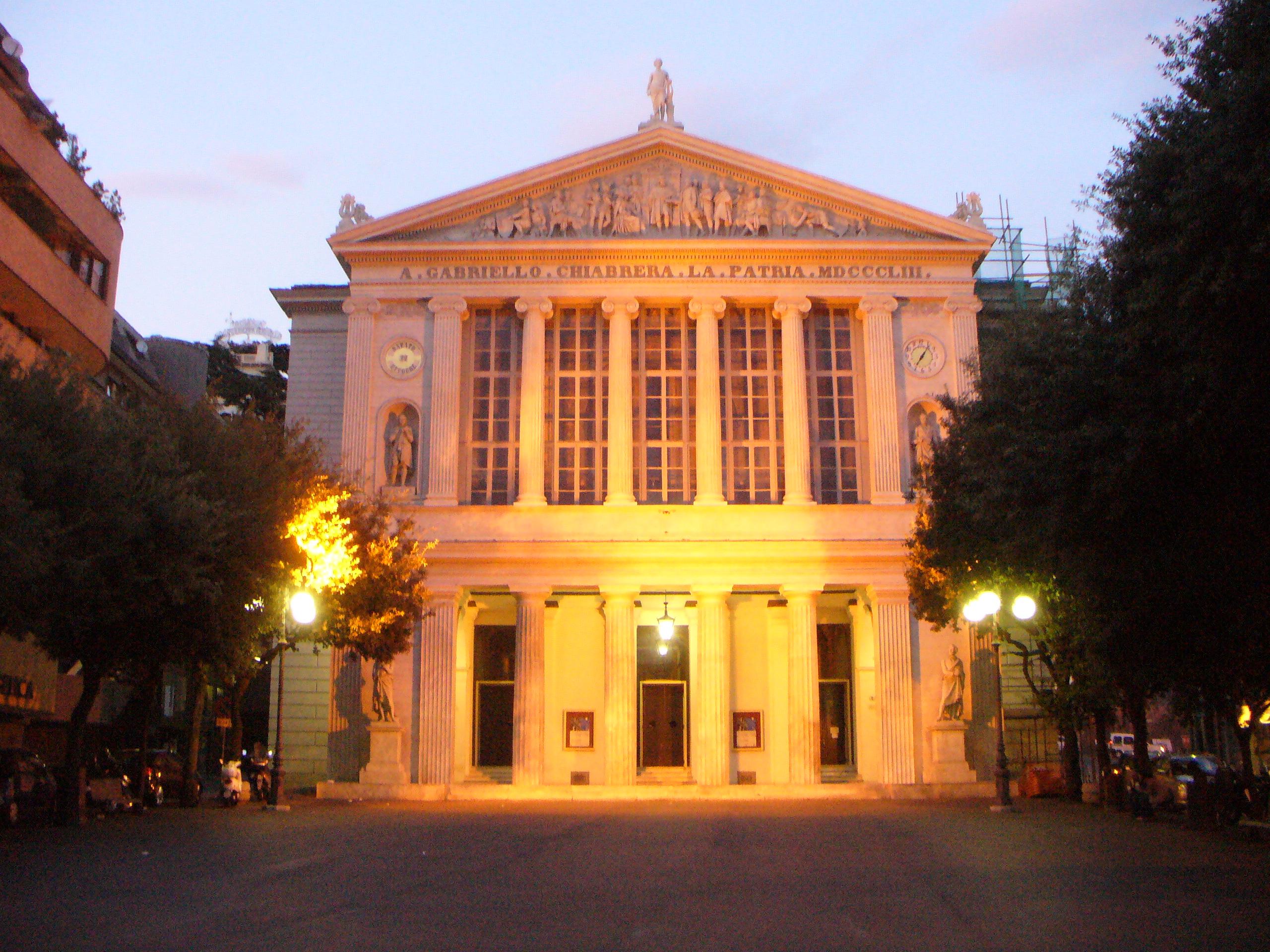 Architetti Savona Elenco teatro gabriello chiabrera - wikipedia