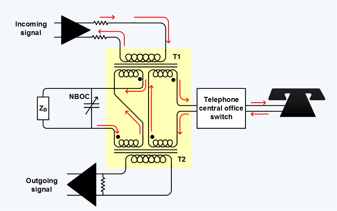 Telephone Hybrid Wikipedia Transformer Schematic Diagram