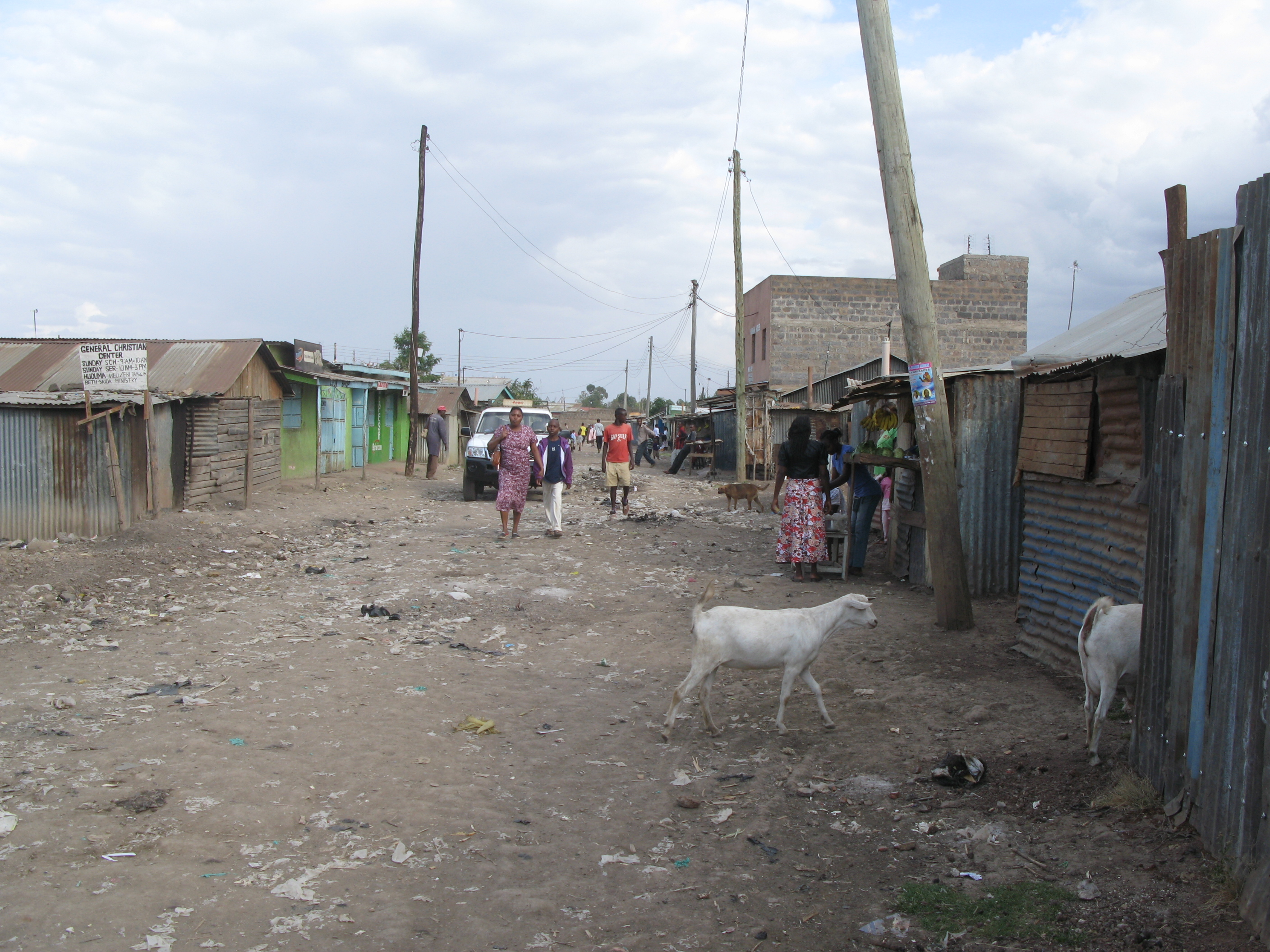 The street in front of the third plot in low-income area Bulbul near Nairobi, Kenya (10543432723).jpg