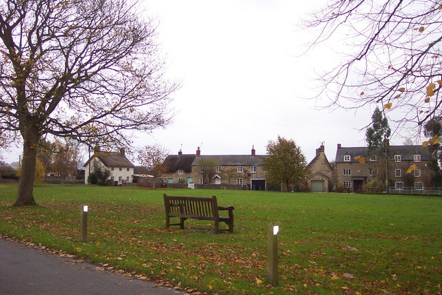 The village green at Kingham - geograph.org.uk - 280074
