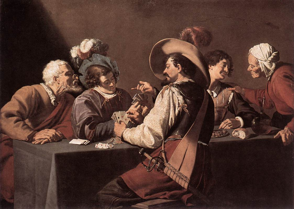 Genre barock  File:Theodoor Rombouts - The Card Players - WGA20022.jpg ...