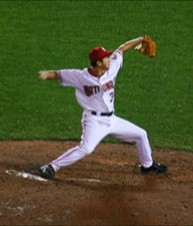 Ohka pitching for the Washington Nationals in 2005 Tomo Ohka nationals (Cropped).jpg
