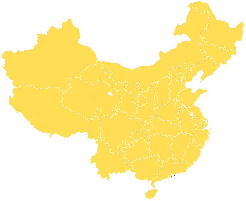 FileUnlabeled map of Chinese provinces with Macao and Hong Kong
