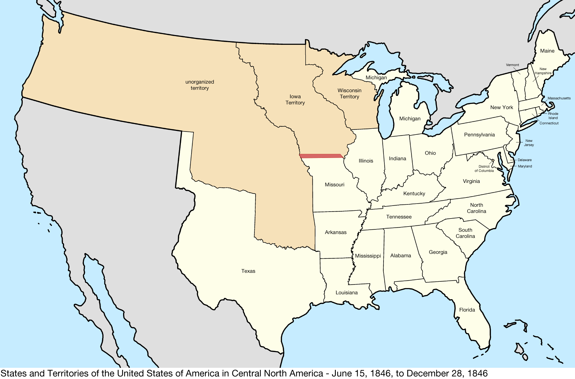 Map Of Us In 1846 File:United States Central map 1846 06 15 to 1846 12 28.png