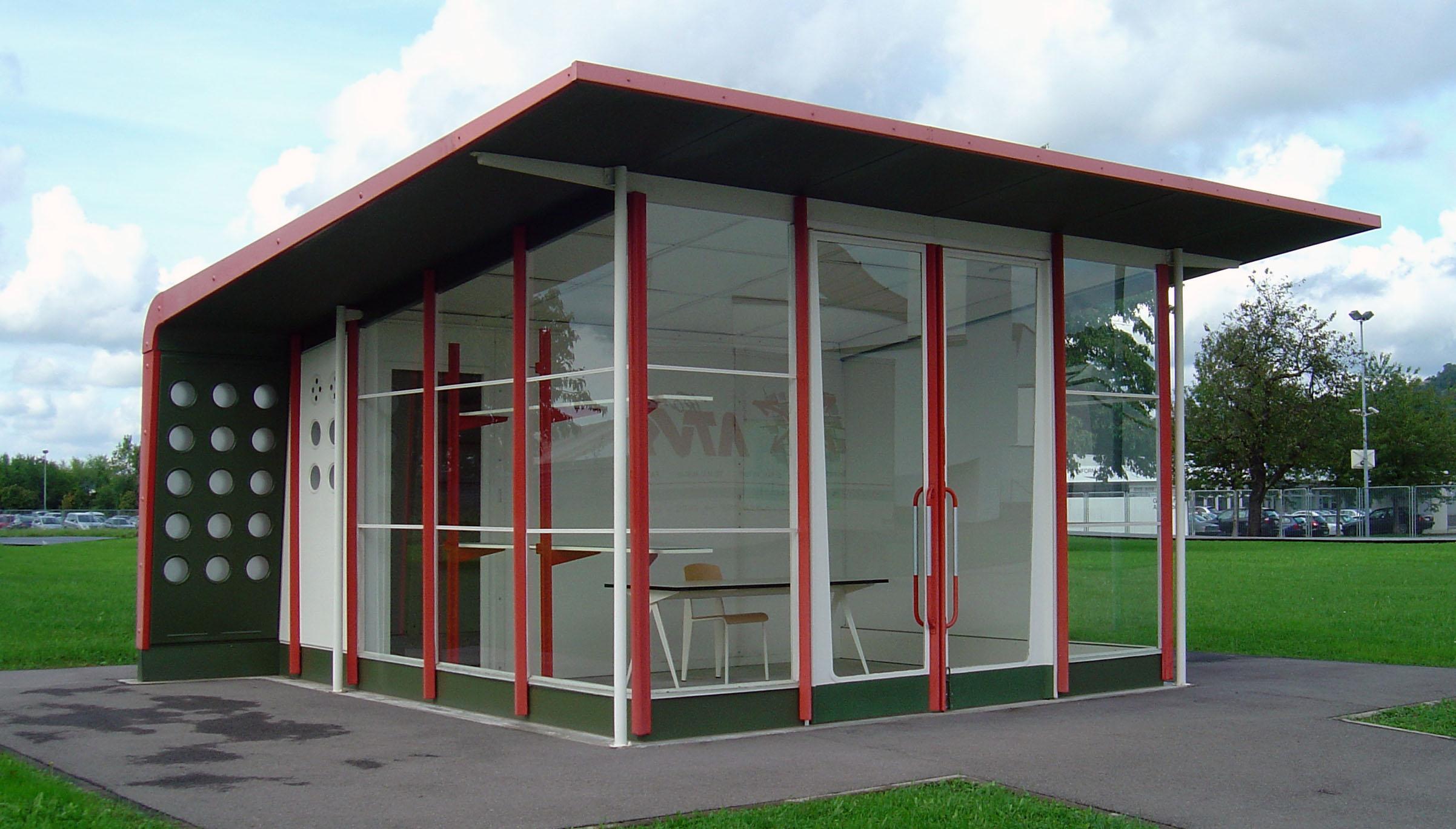 File vitra petrol station jean prouv jpg wikimedia commons - Jean prouve architecture ...