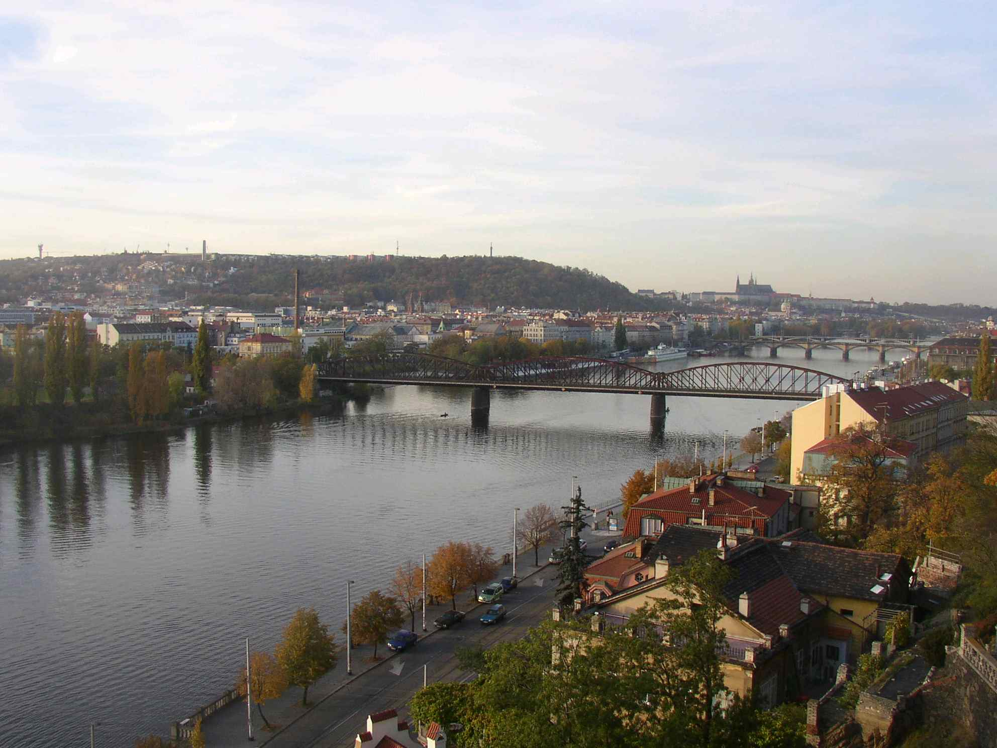 Vltava River Smichov and Petrin as seen from Vysehrad - Why Prague is Great as a City of Romance