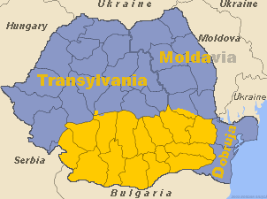 The present-day counties comprising Wallachia Walachia.png