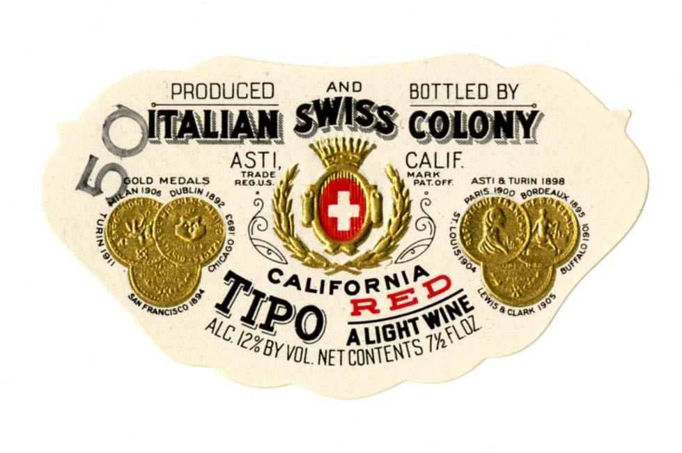 File Wine Label Italian Swiss Colony Tipo California Red
