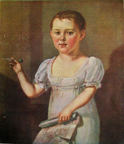 М.Ю.Лермонтов в возрасте 3—4 лет.