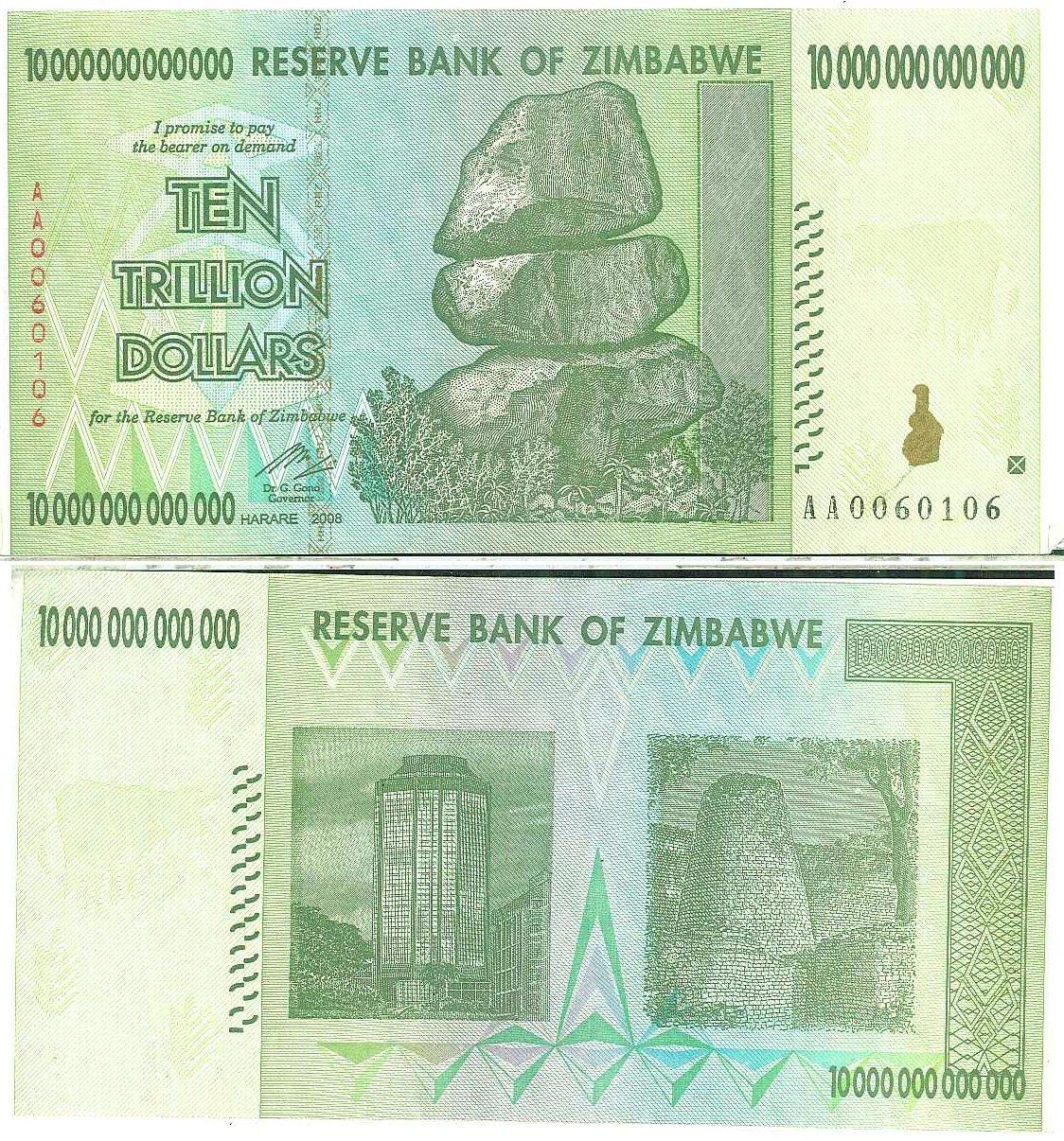 File 10 Trillion Zimbabwean Dollars Jpg