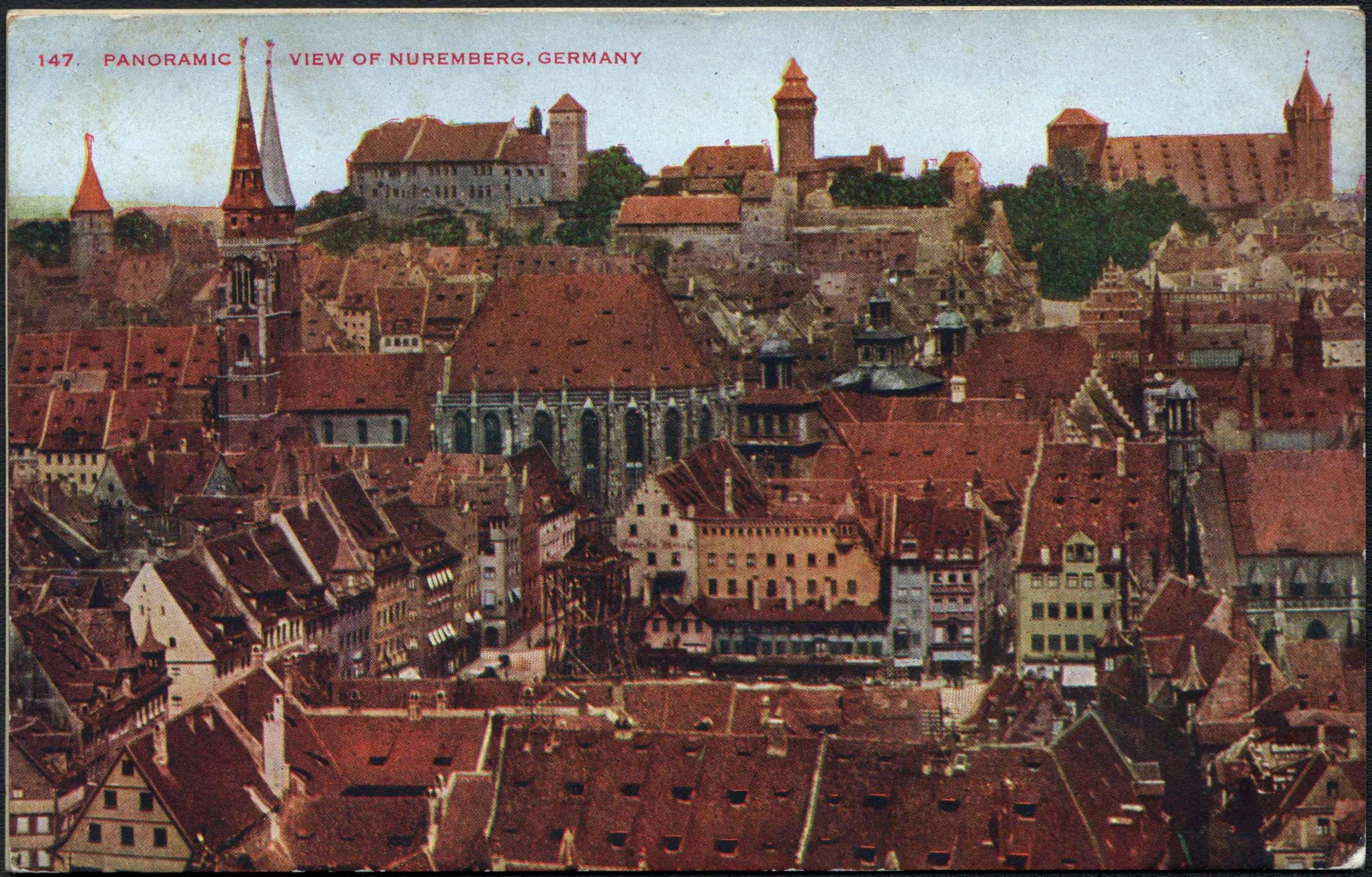 Nuremberg Germany  city pictures gallery : Description 147. Panoramic view of Nuremberg, Germany
