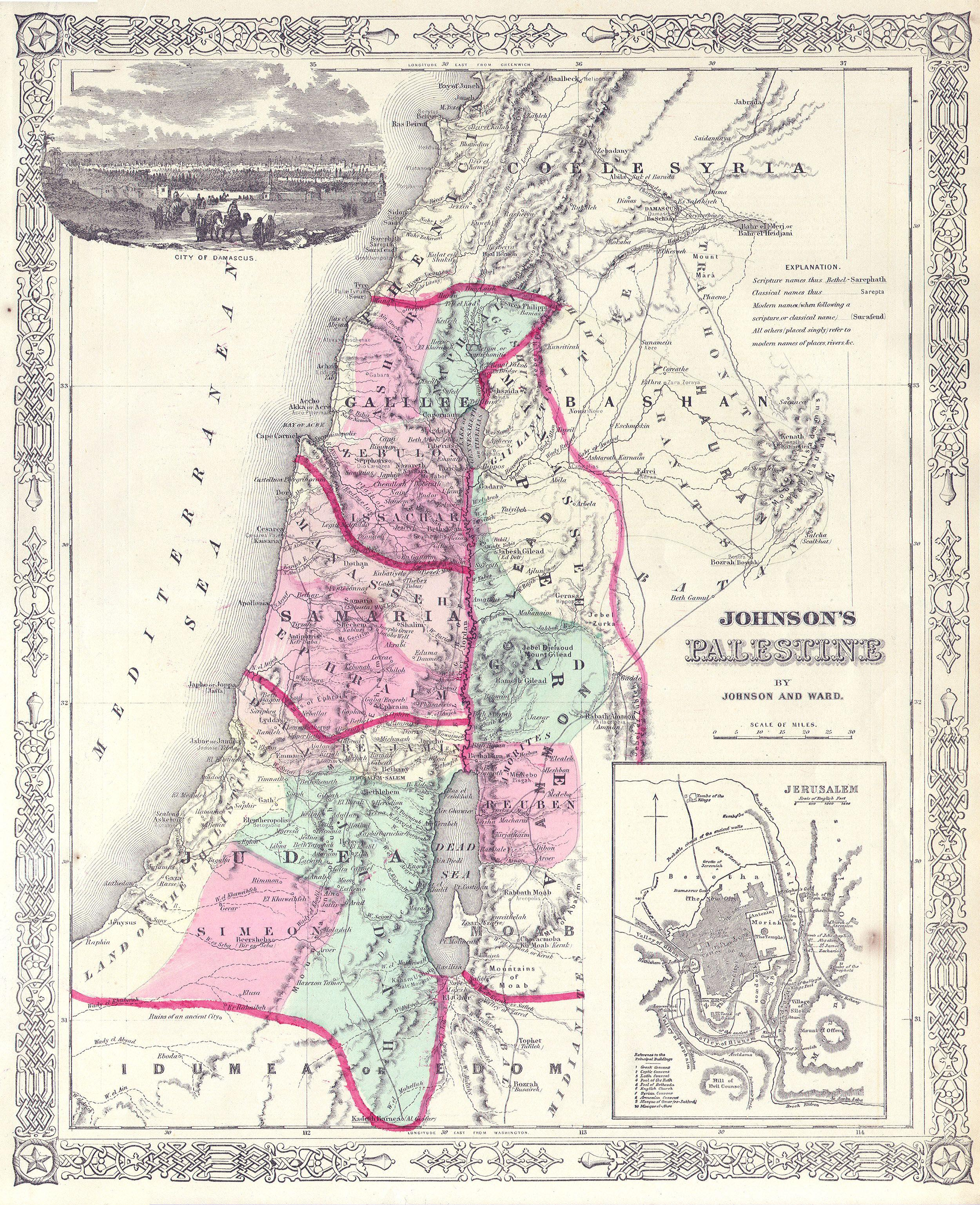File1864 Johnson Map of Israel Palestine or the Holy Land