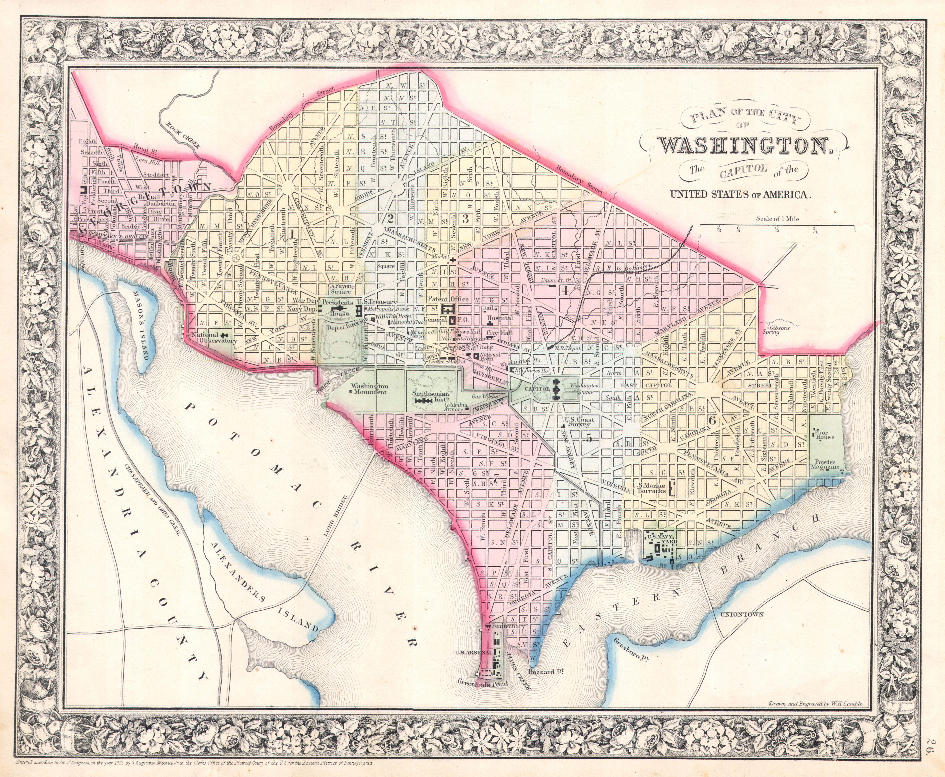 File Mitchell Map Of Washington DC Geographicus - Washington dc capitol map