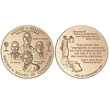2003 Brown et al. v. the Board of Education of Topeka et al. Congressional Gold Medal.jpg