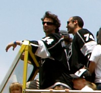 2012 Stanley Cup Parade 03 (Justin Williams & Dwight King crop).JPG