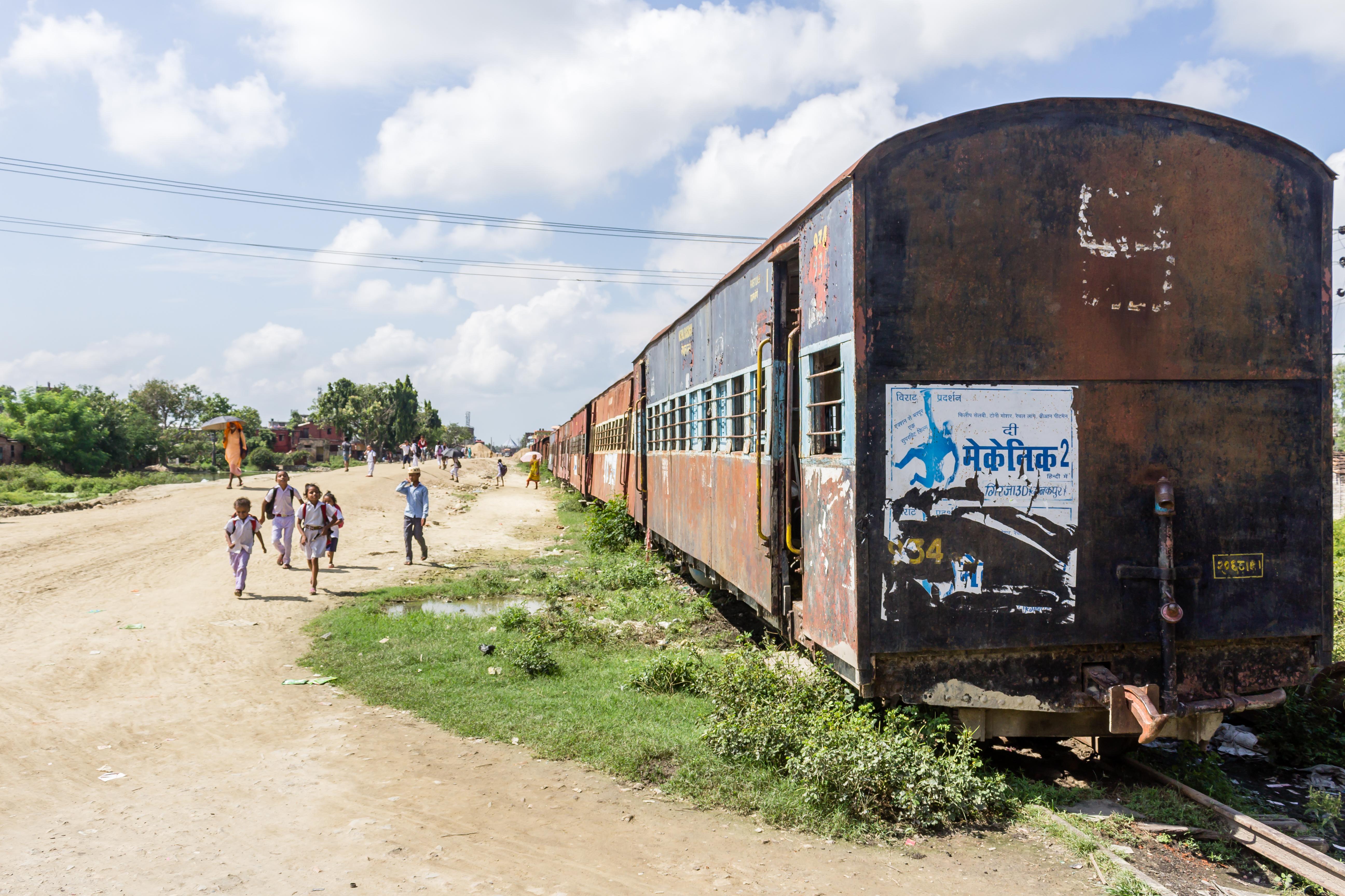 File:Abandoned Train at Janakpur station, Nepal Railways