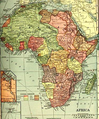 Karta Evrope I Afrike Superjoden
