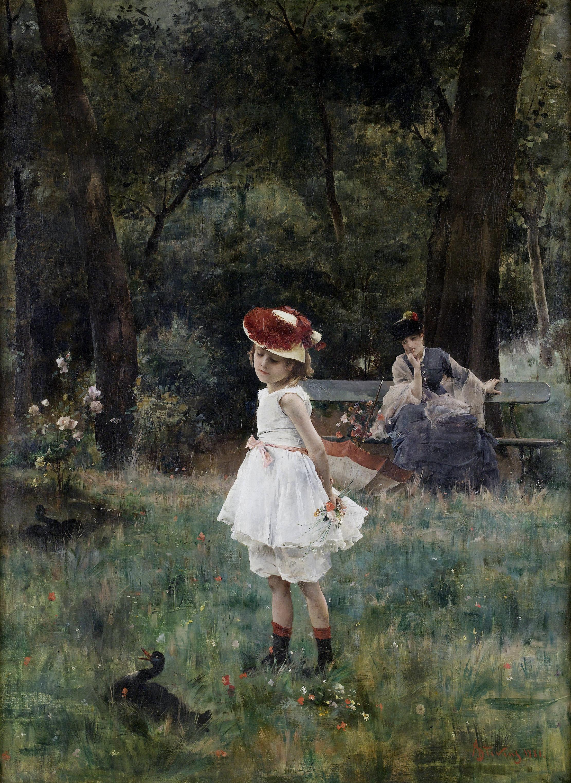 Alfred Stevens - La Fillette aux canards (1881)