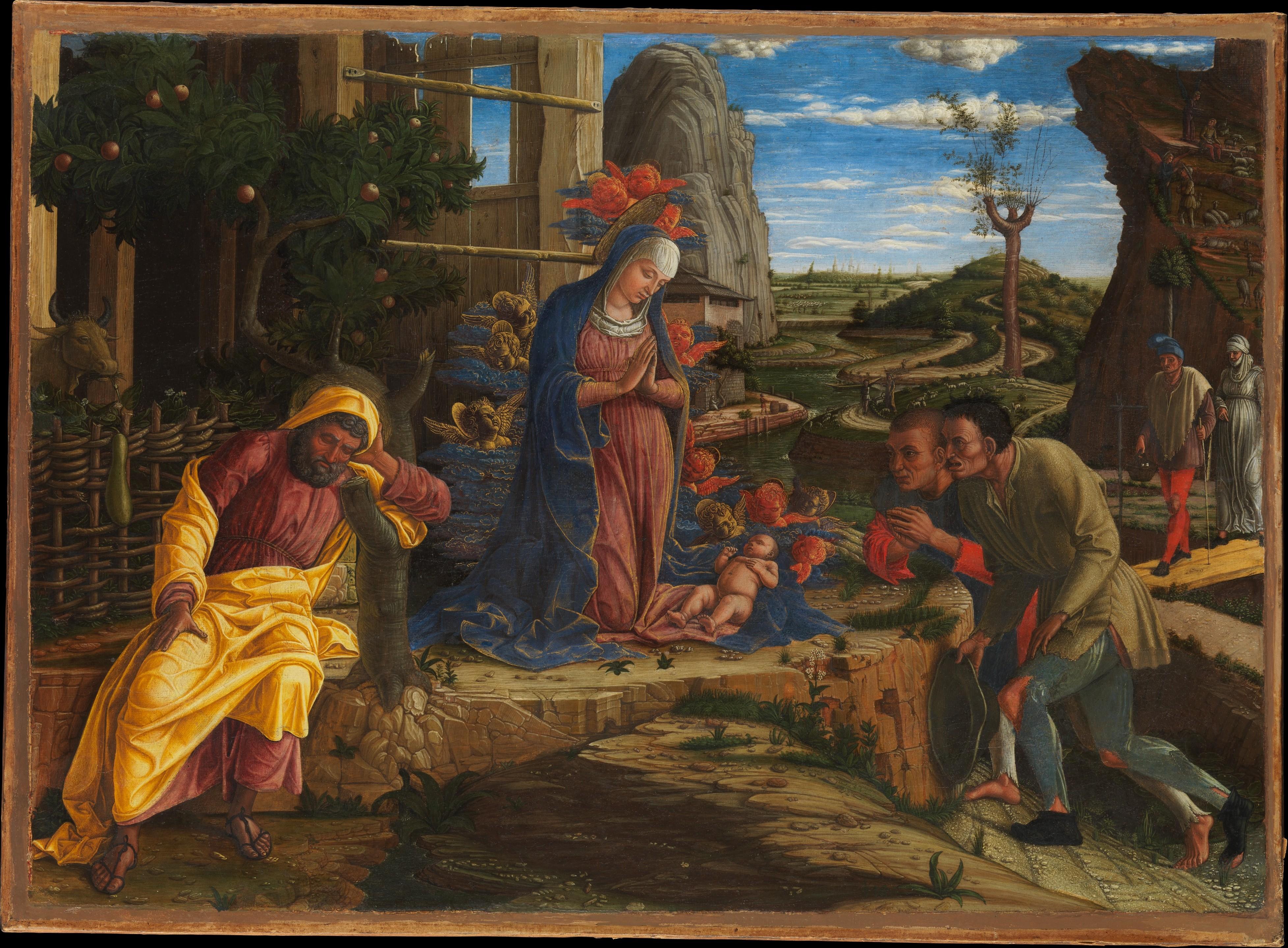 Mantagna's Adoration of the Shephards