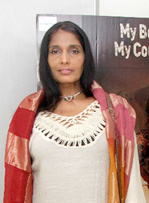 Anu Aggarwal snapped at the special screening of Begum Jaan (cropped).jpg