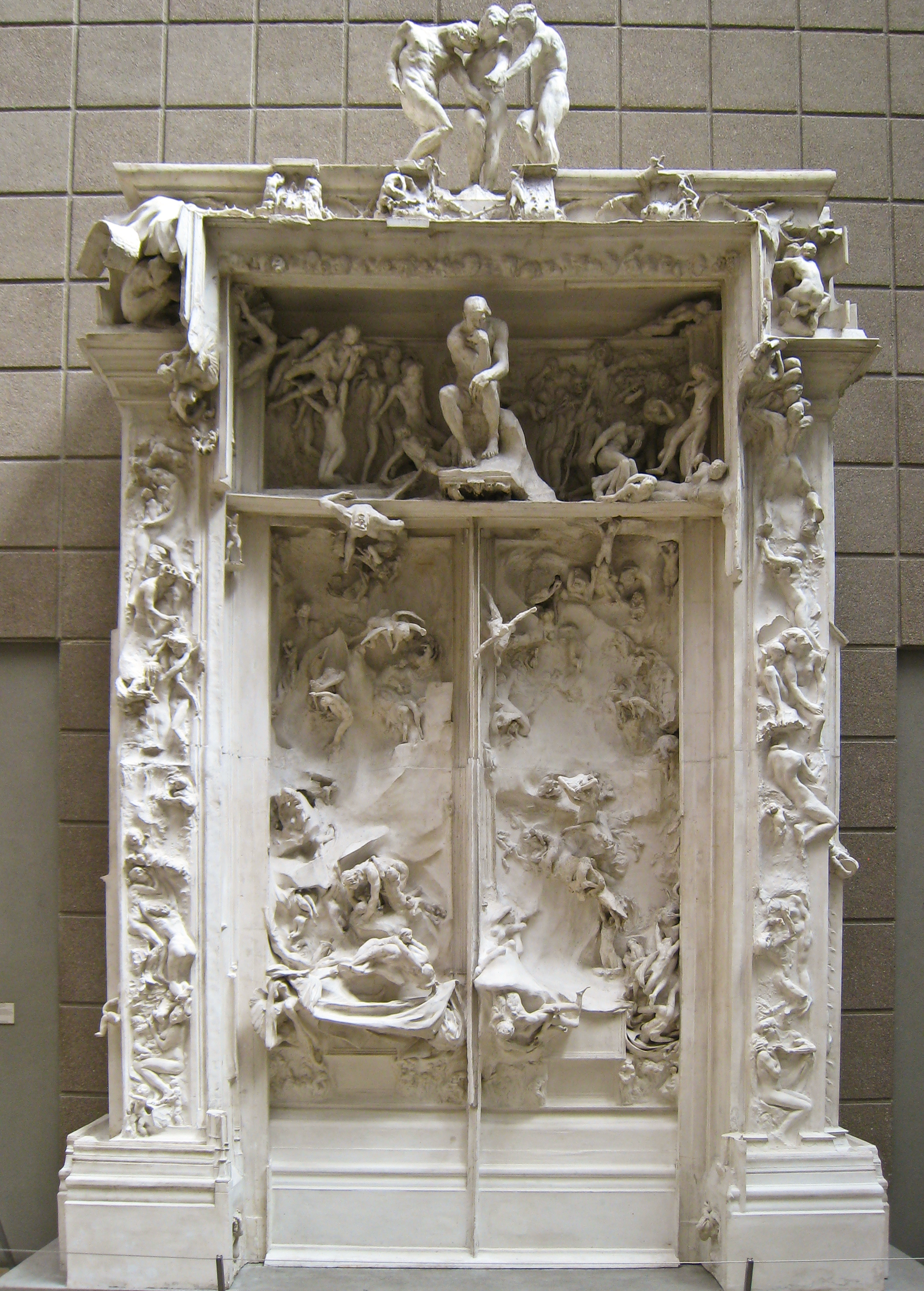 File auguste rodin porte de l 39 enfer 1880 1917 3807828604 jpg wikimedia commons - La porte de l enfer rodin ...
