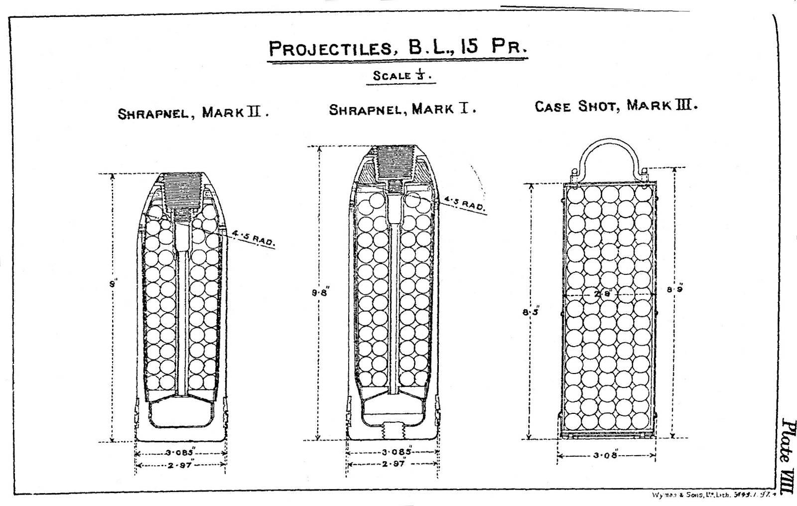 File:BL 15 pounder gun projectiles diagrams 1896 jpg