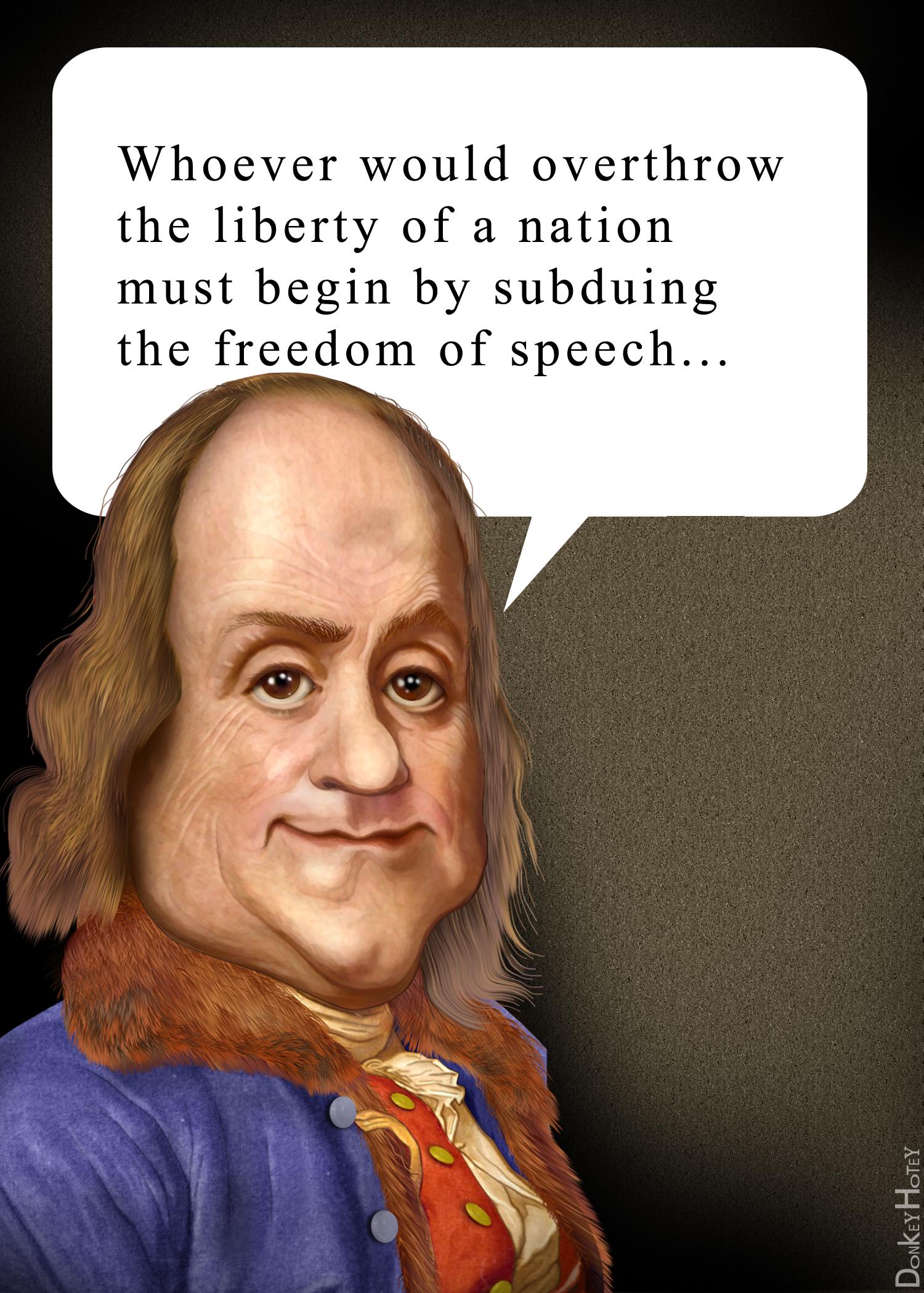 Filebenjamin Franklin Freedom Of Speech Quotejpg Wikimedia Commons