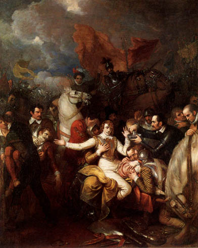 Benjamin West - The Fatal Wounding of Sir Philip Sidney