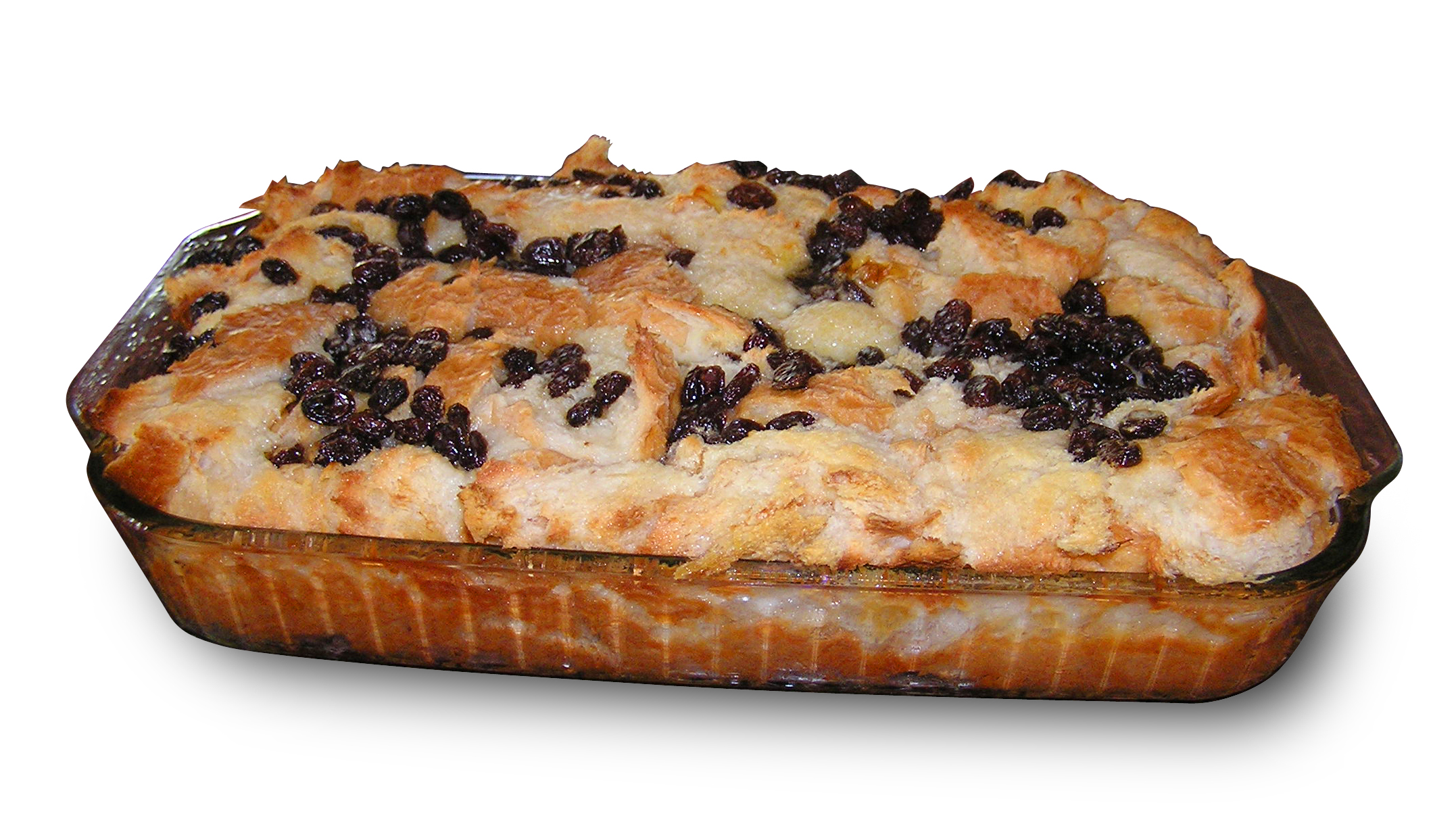 Description Bread pudding on white background.jpg