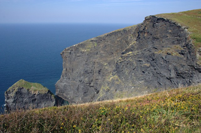 File:Buckator Cliff and Gull Rock - geograph.org.uk - 1492996.jpg