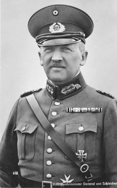 Kurt von Schleicher. Aufnahme aus dem Jahr 1932