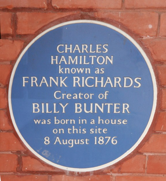 Photo of Charles Hamilton blue plaque