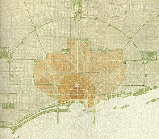 Daniel Burnham's Plan of Downtown Chicago (1909)