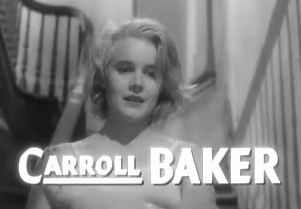 Cropped screenshot of Carroll Baker from the f...