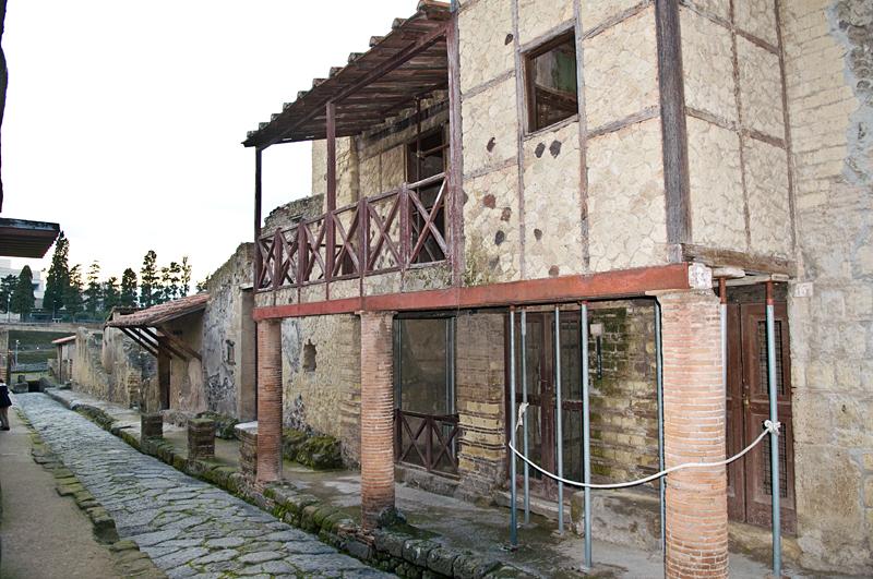Antikes Haus in Herculaneum mit Fachwerkelementen