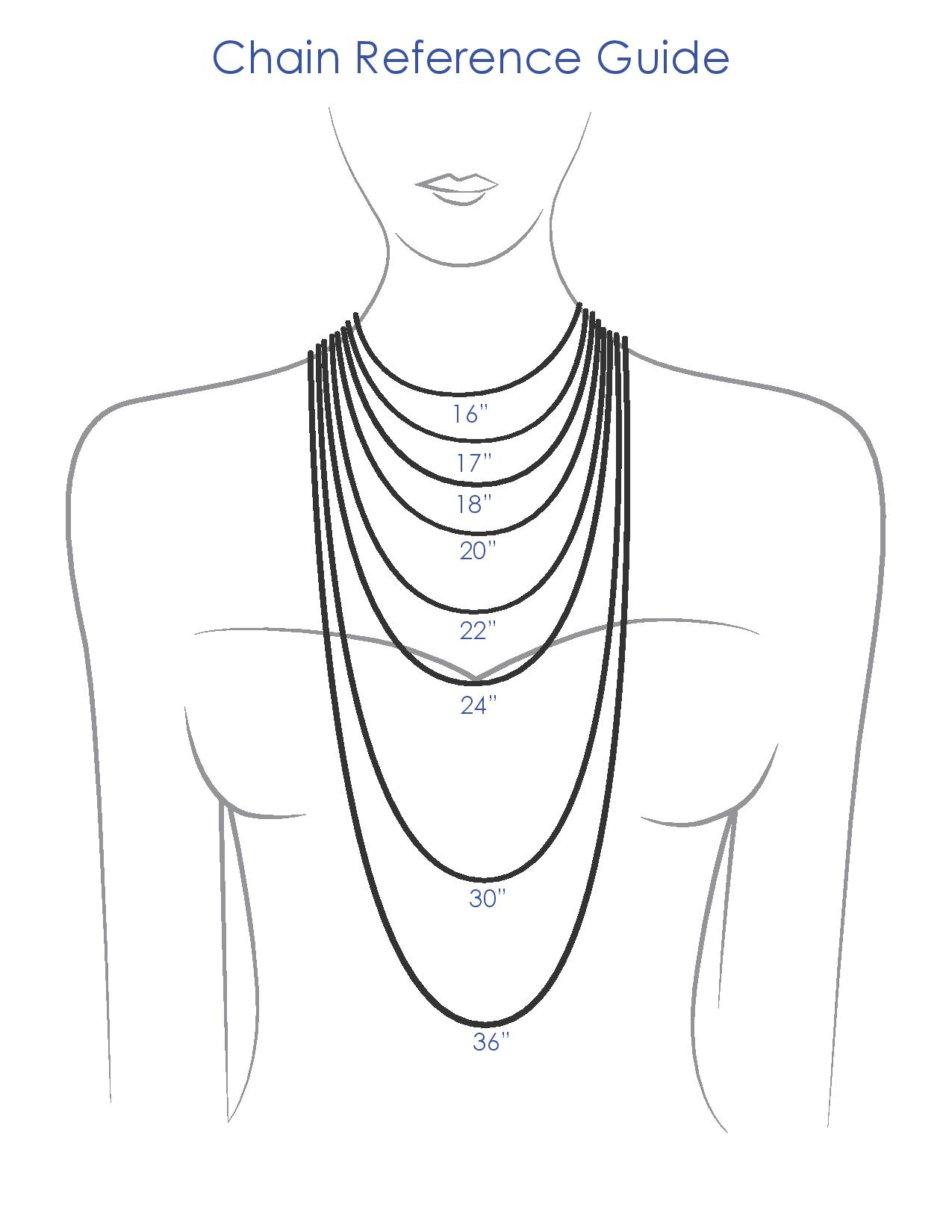 Waist Conversion Size Chart: Necklace - Wikipedia,Chart
