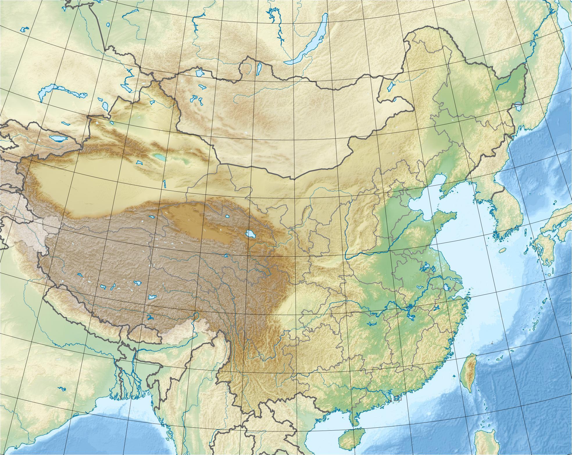 Voir la carte Chine topographique