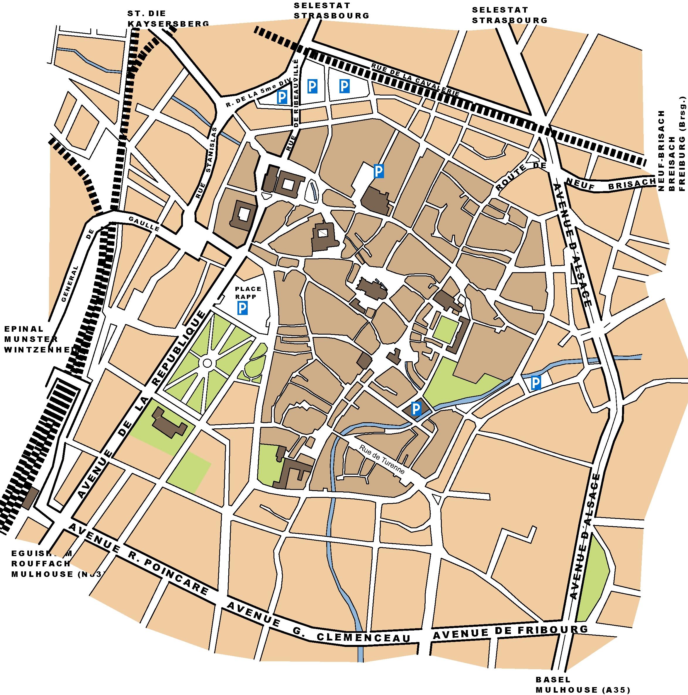 Plan De Ville Colmar